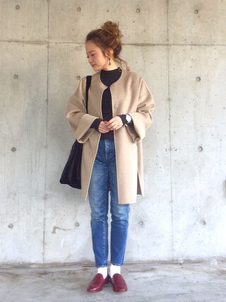 「COMFORT Sandy Tapered(MOUSSY)」 using this shihocoo looks