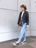 shihocooさんの「アソートワイドスカーフ(TODAYFUL|トゥデイフル)」を使ったコーディネート