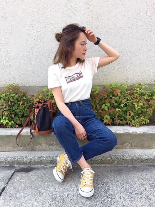 shihococoさんの「GOOD SPEED / HERSHEYS Tシャツ(Ray BEAMS)」を使ったコーディネート