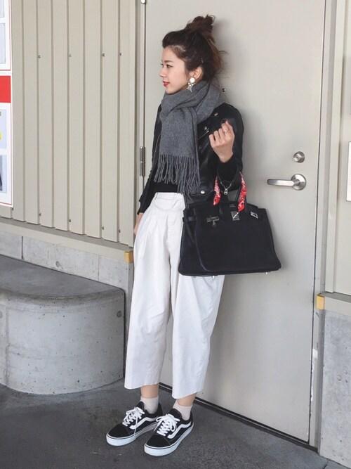 miisuuzuukiiさんの「■別注■beautiful people×MIDWEST ライダースジャケット(beautiful people)」を使ったコーディネート