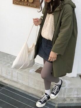 miisuuzuukiiさんの「ミニスカート(A.P.C.|アー・ペー・セー)」を使ったコーディネート