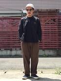 TAKESHI KOJIMAさんの「VANS ヴァンズ SLIP ON スリッポン V98CL SHAGGY NAVY(VANS|バンズ)」を使ったコーディネート