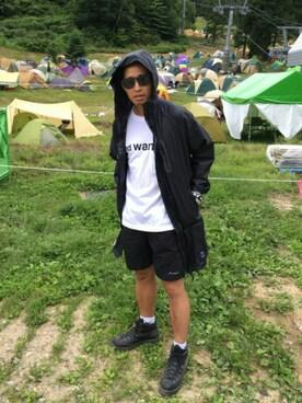 kiu-officialさんの「and wander/アンドワンダー×BEAVER/ビーバー 別注ロゴポケットTシャツ Men's (4065)(and wander|ナイキ)」を使ったコーディネート