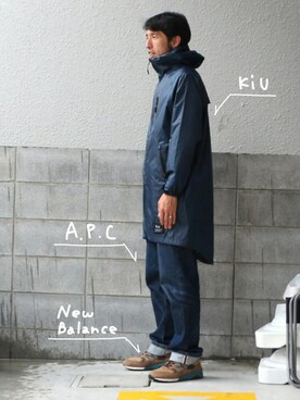KiU|kiu-officialさんの「レインジップアップ(KiU|キウ)」を使ったコーディネート