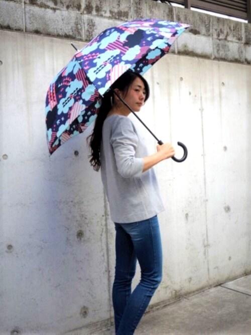 KiU-officialさんの「UR 綿モダール天竺ロングスリーブTシャツ(URBAN RESEARCH)」を使ったコーディネート