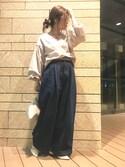 yukayukaさんの「バルーンスリーブプルオーバー(titivate ティティベイト)」を使ったコーディネート
