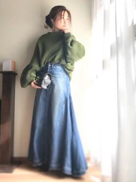 yukayukaさんの「[silver925]ロングチェーンピアス(Luz Llena (NEY))」を使ったコーディネート