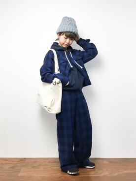 ZOZOTOWN|konabeさんの(X-girl|エックスガール)を使ったコーディネート