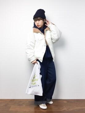 ZOZOTOWN|konabeさんの「【WEB限定アイテム】SWEAT HOODIE TOP(X-girl|エックスガール)」を使ったコーディネート