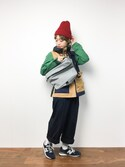 konabeさんの「L.H.P women/ADAMPATEK/the bond/HEATHERED NYLON BODYBAG(AMPK-B027)(ADAM PATEK|アダムパテック)」を使ったコーディネート