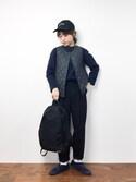 konabeさんの「NIKE ナイキ NSW クラシック ノース バックパック(PLAIN CLOTHING|プレーンクロージング)」を使ったコーディネート