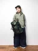 konabeさんの「BEAMS BOY / ヘリンボーン ワークシャツ(BEAMS BOY|ビームスボーイ)」を使ったコーディネート
