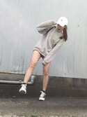 「FOREVER 21 Textured Knit High-Waist Shorts(Forever 21)」 using this misato looks