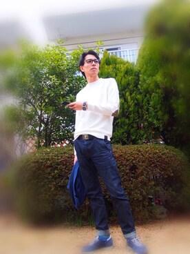 Fabbrica.uomo|kazu0315さんの「ElbowPatch Long Sleeve(Fabbrica.uomo|ファブリッカウオモ)」を使ったコーディネート