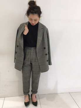 SENSE OF PLACE by URBAN RESEARCH|SENSE OF PLACE キュープラザ原宿店 STAFFさんの「ルーズテーラードジャケット(SENSE OF PLACE by URBAN RESEARCH)」を使ったコーディネート