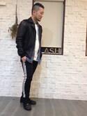 「メンズ アディダス リブ スーパースター ジャージパンツ adidas SST CUFFED TRACK PANTS AJ6960/AJ6961(adidas)」 using this take looks
