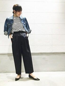 journal standard luxe 渋谷店|JOURNAL STANDARD 京都店スタッフ2さんのTシャツ/カットソー「【SAINT JAMES/セントジェームス】 ウェッソンボーダー#(SAINT JAMES|セントジェームス)」を使ったコーディネート