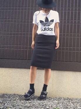 LINAさんの(adidas|アディダス)を使ったコーディネート