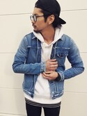 YUSUKE5さんの「KURO / クロ CROW HERITAGE WASH03(KURO|クロ)」を使ったコーディネート