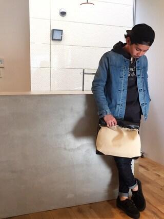 YUSUKE5さんの「Ditch Miller Standard Hooded Sweatshirt(Saturdays NYC|サタデーズ ニューヨークシティ)」を使ったコーディネート