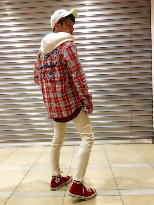 AVIREX ららぽーと横浜νーmasaさんのシャツ/ブラウス「avirex/ アヴィレックス / PATCHED CHECK SHIRT/ パッチド チェックシャツ(AVIREX|アヴィレックス)」を使ったコーディネート