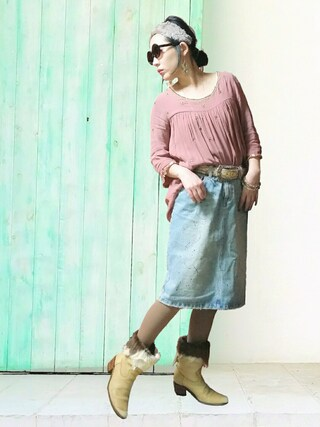 「AE[S]METAL BEADS TUNIC(InRed4月)(Another Edition)」 using this noe looks