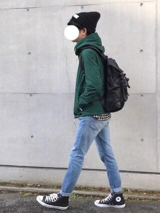 しゅんたろーさんの「パッカブル ライトマウンテンパーカー -MARIN PARKA-(FREAK'S STORE|フリークスストア)」を使ったコーディネート