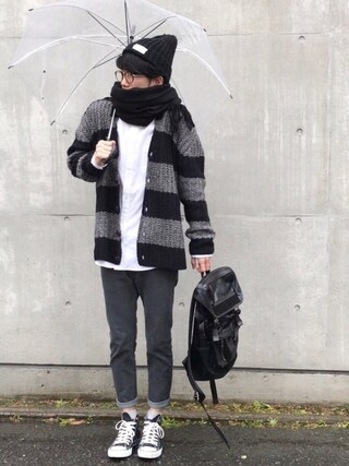 「Border cardigan(glamb)」 using this しゅんたろー looks