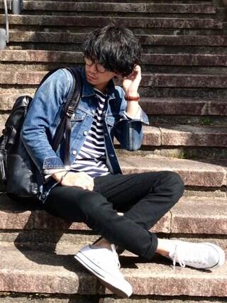 しゅんたろーさんの「DENIMADE SLIM-FIT G-JKT(URBAN RESEARCH|アーバンリサーチ)」を使ったコーディネート