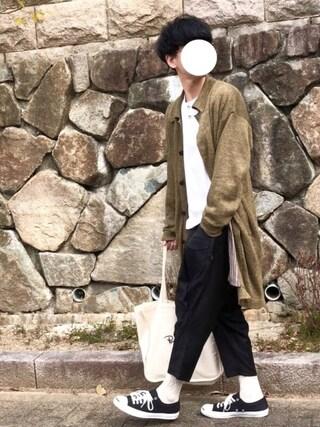 しゅんたろーさんの「Blues knit coat(glamb|グラム)」を使ったコーディネート