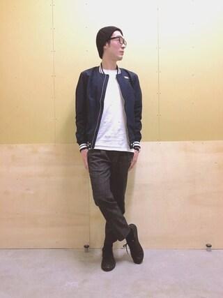「MEN スーピマコットンクルーネックT(半袖)(ユニクロ)」 using this DIESEL ダイバーシティ東京 プラザ|DIESEL _Yuki looks