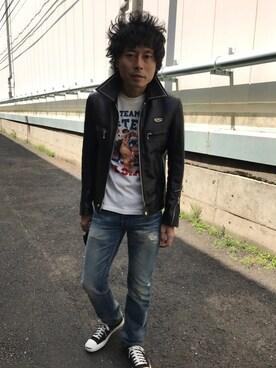 Tsutomu Echizenさんの(HYSTERIC GLAMOUR|ヒステリックグラマー)を使ったコーディネート