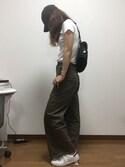 「スーピマコットンリブクルーネックT(半袖)(ユニクロ)」 using this りょう looks