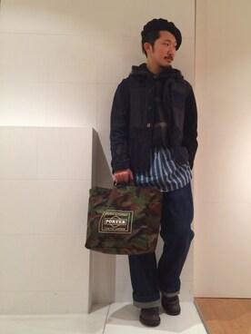 URBANRESEARCHプレスルーム|YutaYanagihoriさんの(Engineered Garments|エンジニアードガーメンツ)を使ったコーディネート