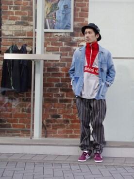 AMERICANRAGCIE(アメリカンラグシー)ルクア大阪店|naoki takedaさんのスニーカー「adidas Originals(アディダス オリジナルス)GAZELLE(adidas originals|アディダスオリジナルス)」を使ったコーディネート