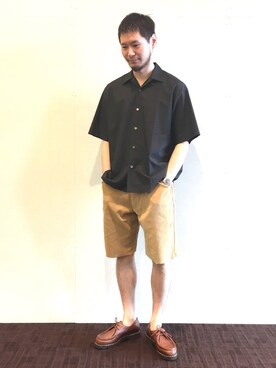 Bshop 天神ソラリアプラザ店|kitchen&garden新丸ビル店スタッフさんのシャツ/ブラウス「オープンカラーシャツ MEN(AURALEE|オーラリー)」を使ったコーディネート