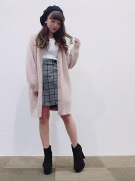 INGNI 長野シーワン店|INGNIさんの「12G装飾付クルーネックニットプルオーバー/レディース-2017AW-(INGNI)」を使ったコーディネート