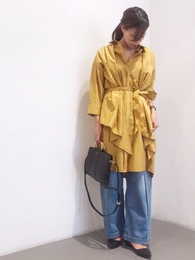 ROSSO名古屋パルコ店さんの「3WAYシャツワンピース(URBAN RESEARCH ROSSO WOMEN)」を使ったコーディネート