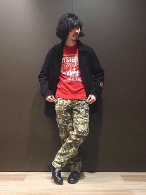 HYSTERIC GLAMOUR銀座マロニエゲート店ikechanさんのブーツ「SIDE ZIP ショートブーツ(HYSTERIC GLAMOUR|ヒステリックグラマー)」を使ったコーディネート