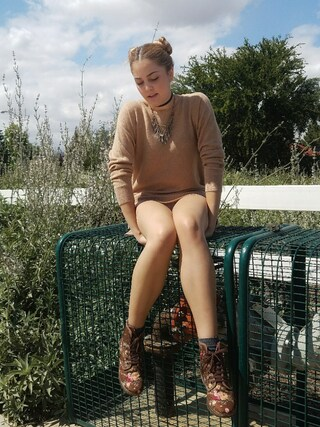 「Halogen ® Zip Back Crewneck Cashmere Sweater (Regular & Petite)(Halogen)」 using this Jess looks
