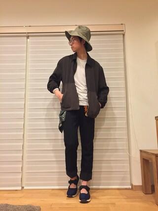 MOSさんの「【kijimatakayuki】ワイドブリムハット(KIJIMA TAKAYUKI|キジマ タカユキ)」を使ったコーディネート