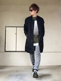 「939 Black Leather Boots(DR MARTENS)」 using this サマル looks