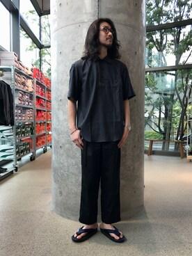 EN ROUTE GINZA|H.Horiさんのシャツ/ブラウス「ENR コンビネーションプルオーバーシャツ(EN ROUTE|アンルート)」を使ったコーディネート
