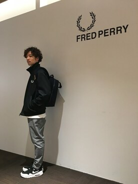 FRED PERRY 有楽町マルイ|KYOSUKE さんの「Sleeve Paneled Track Jacket(FRED PERRY)」を使ったコーディネート