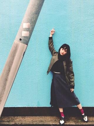 平 祐奈 | Yuna Tairaさんの「nesessaire blouse(ネセセアブラウス)レーススタンドカラー(nesessaire|ネセセア)」を使ったコーディネート