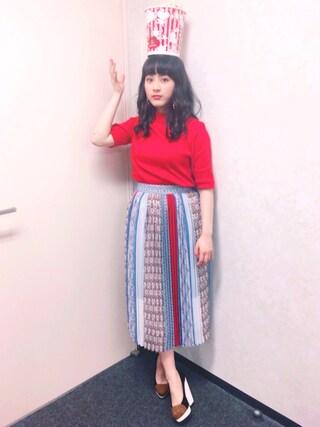 平 祐奈 | Yuna Tairaさんの「ハリヌキハーフスリーブハイネックTEE(UNITED TOKYO|ユナイテッドトウキョウ)」を使ったコーディネート
