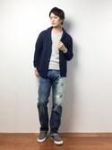 中嶋時男さんの「LEVI'S(R) VINTAGE CLOTHING-1947 501 JEANS SEA CHANGE(LEVI'S VINTAGE CLOTHING|リーバイス・ビンテージ・クロージング)」を使ったコーディネート