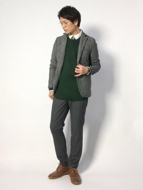 中嶋時男さんの「メルトンウールシングルテーラードジャケット(improves)」を使ったコーディネート