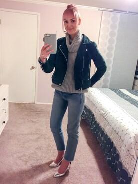 """☆ グリア ☆ is wearing Blank NYC """"Women's Blanknyc Suede Moto Jacket"""""""