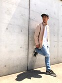 「Levi's 501 Slim-Fit Stretch-Denim Jeans(Levi's)」 using this ちゃんかわ looks